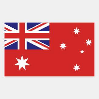 Bandera civil de Australia Pegatina Rectangular