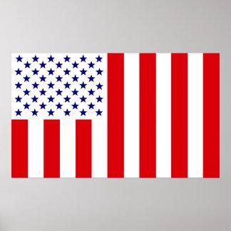 Bandera civil de Estados Unidos de la paz Poster