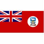 Bandera civil de Islas Malvinas (brazos dentro del Escultura Fotografica