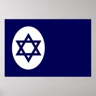 Bandera civil de Israel, isla del hombre Poster