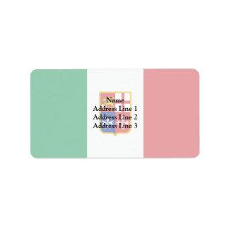 Bandera civil de Italia, Italia Etiquetas De Dirección