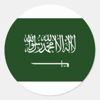 Bandera civil de la Arabia Saudita Pegatina Redonda