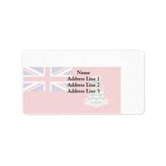 Bandera civil de las Islas Caimán, Reino Unido Etiqueta De Dirección