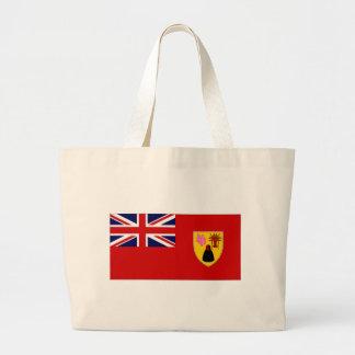 Bandera civil de las islas de Caicos de los turcos Bolsa Tela Grande