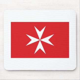 Bandera civil de Malta Alfombrilla De Raton