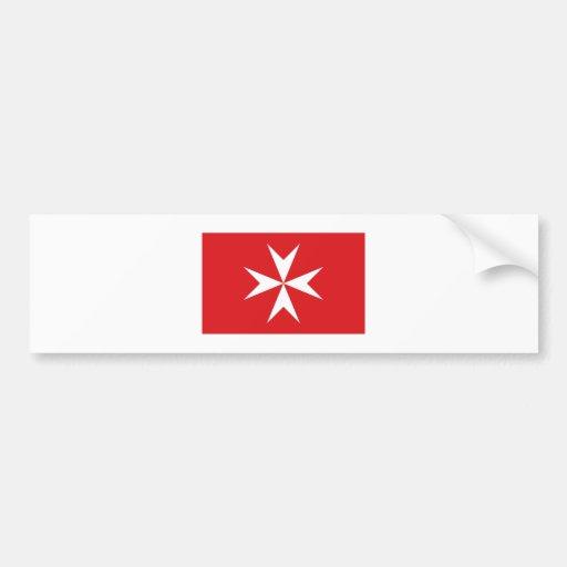 Bandera civil de Malta Pegatina Para Auto