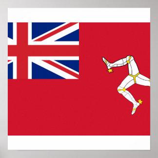 Bandera civil el hombre de la isla, Reino Unido Impresiones