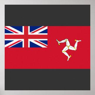 Bandera civil el hombre de la isla, Reino Unido Posters