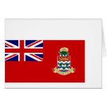 Bandera civil las Islas Caimán, Reino Unido Tarjeta