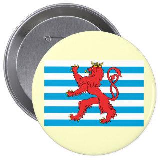 Bandera civil Luxemburgo, Luxemburgo Pin Redondo De 4 Pulgadas
