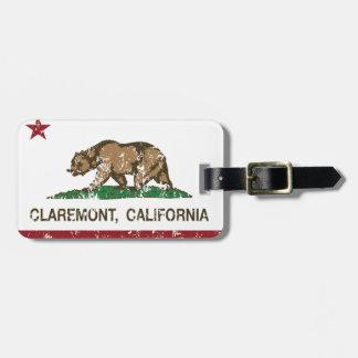 Bandera Claremont del estado de California Etiquetas Maleta