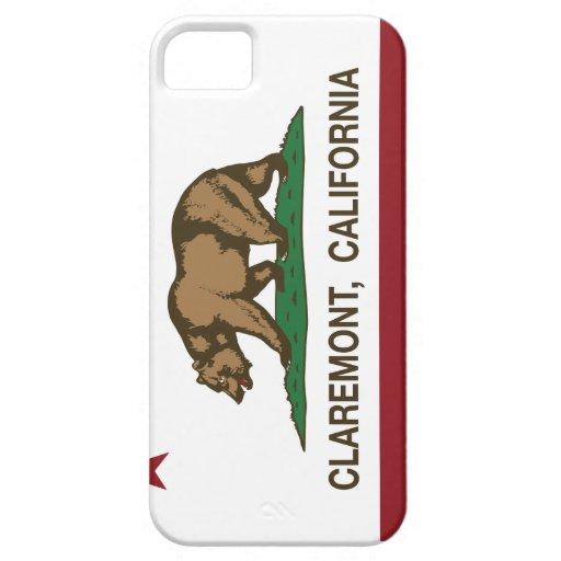 Bandera Claremont del estado de California iPhone 5 Case-Mate Coberturas
