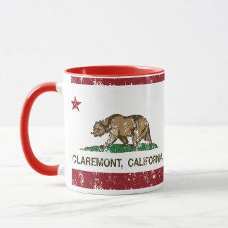 Bandera Claremont del estado de California Taza