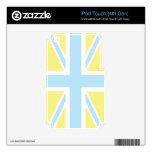 Bandera clásica azul claro de Union Jack Británico iPod Touch 4G Calcomanías