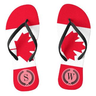 Bandera clásica de Canadá Chanclas
