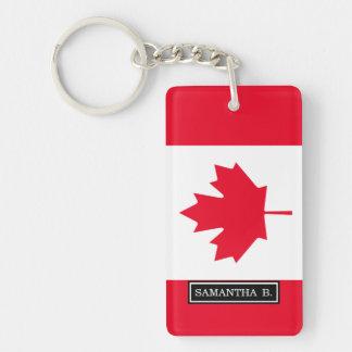 Bandera clásica de Canadá Llavero Rectangular Acrílico A Doble Cara