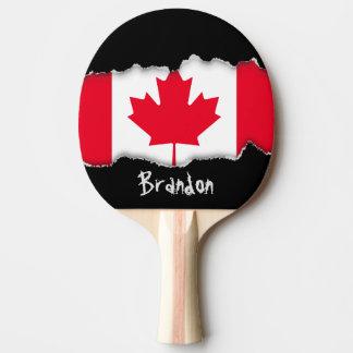 Bandera clásica de Canadá Pala De Tenis De Mesa
