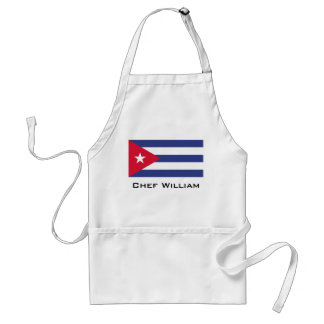 Bandera clásica de Cuba Delantal
