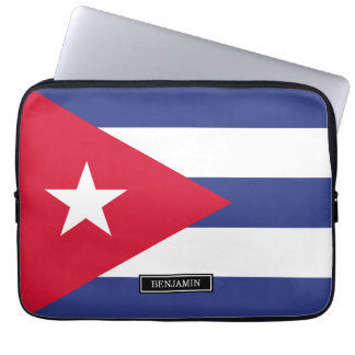 Bandera clásica de Cuba Mangas Portátiles