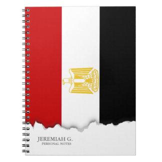 Bandera clásica de Egipto Libro De Apuntes