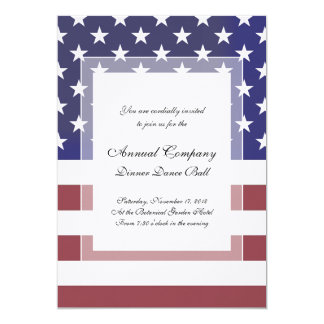"""Bandera clásica de los E.E.U.U. de las barras y Invitación 5"""" X 7"""""""