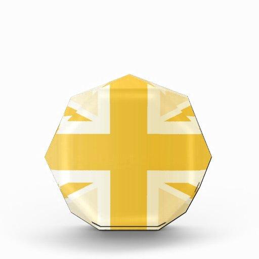 Bandera clásica de oro de Union Jack Británicos (R