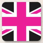 Bandera clásica de Union Jack Británicos (Reino Posavasos De Bebidas