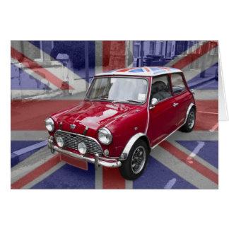 Bandera clásica de Union Jack del coche Tarjeta De Felicitación