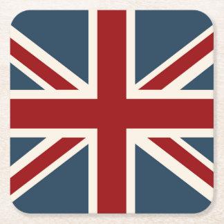 Bandera clásica de Union Jack Posavasos Desechable Cuadrado