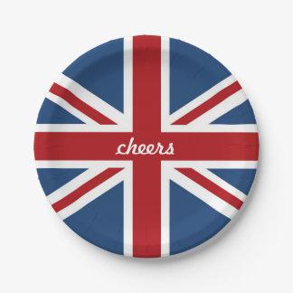 Bandera clásica de Union Jack Reino Unido Platos De Papel