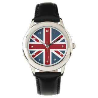 Bandera clásica de Union Jack Relojes De Mano
