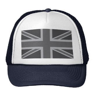 Bandera clásica negra gris de Union Jack Británico Gorras De Camionero