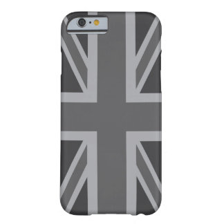 Bandera clásica negra gris de Union Jack Funda Barely There iPhone 6