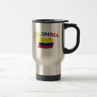 Bandera colombiana 2 taza de viaje