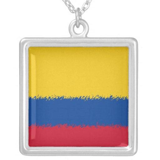 Bandera colombiana pendiente personalizado