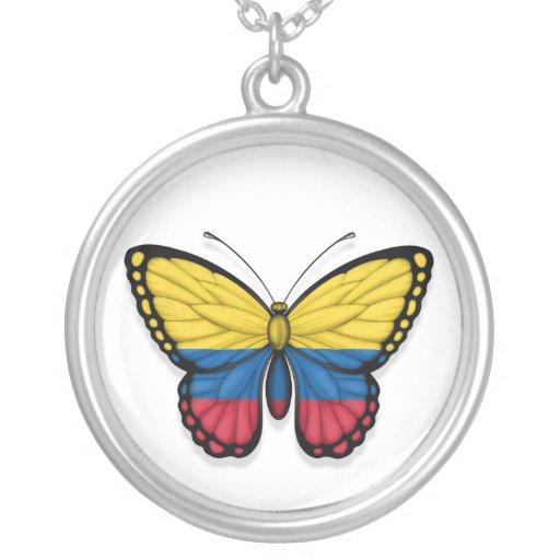 Bandera colombiana de la mariposa grimpolas