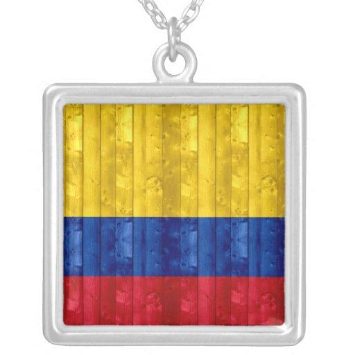 Bandera colombiana de madera joyeria personalizada