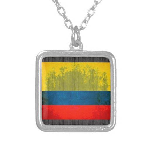Bandera colombiana del contraste colorido joyeria