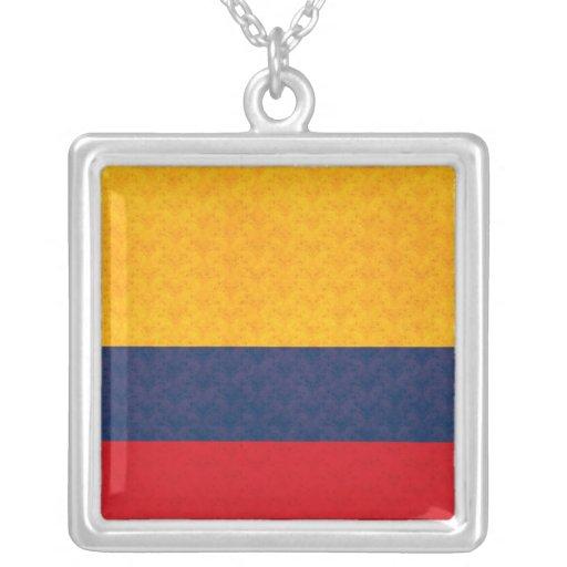 Bandera colombiana del modelo del vintage joyeria personalizada