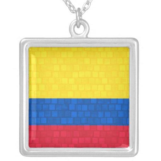 Bandera colombiana del modelo moderno joyerias