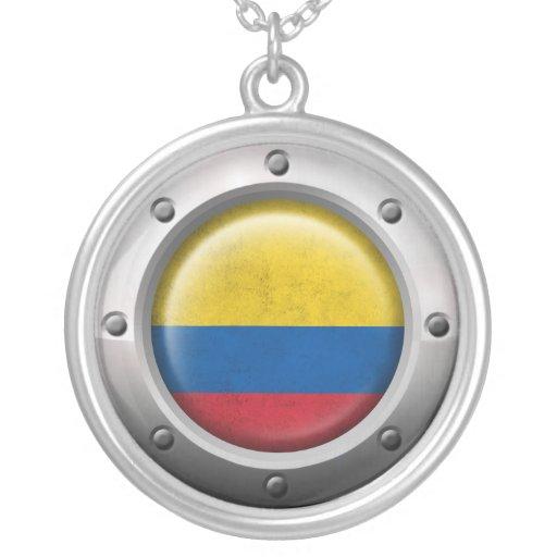 Bandera colombiana industrial con el gráfico de ac grimpolas