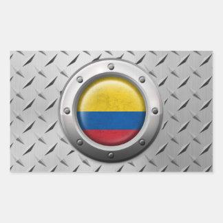 Bandera colombiana industrial con el gráfico de pegatina rectangular