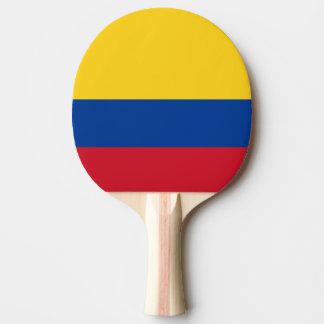 Bandera colombiana pala de ping pong