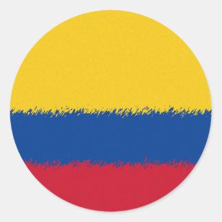 Bandera colombiana pegatina redonda