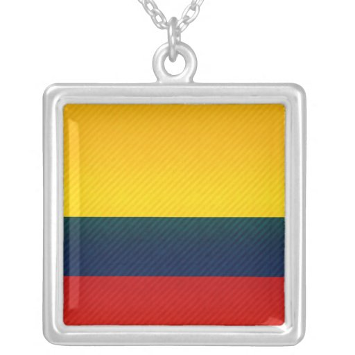 Bandera colombiana pelada moderna pendientes