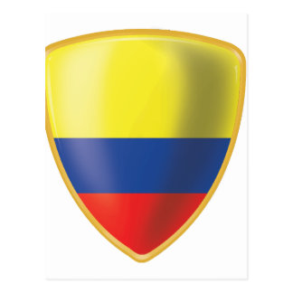 Bandera colombiana postcard