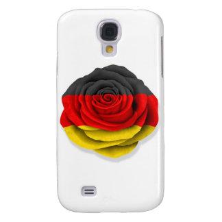 Bandera color de rosa alemana en blanco funda para galaxy s4