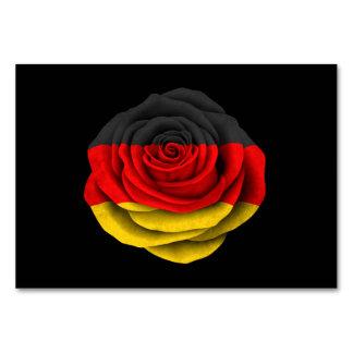 Bandera color de rosa alemana en negro