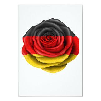 """Bandera color de rosa alemana en negro invitación 3.5"""" x 5"""""""
