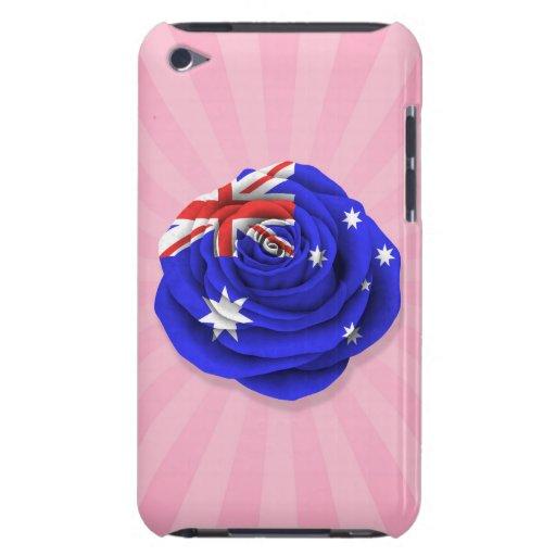 Bandera color de rosa australiana en rosa iPod touch protectores